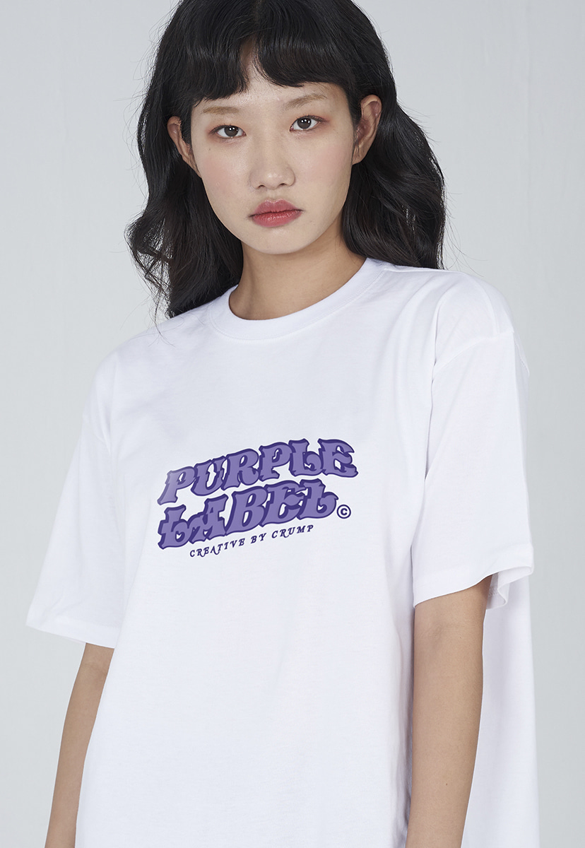 [퍼플라벨] Purple label crack logo tee (PT0012-2)