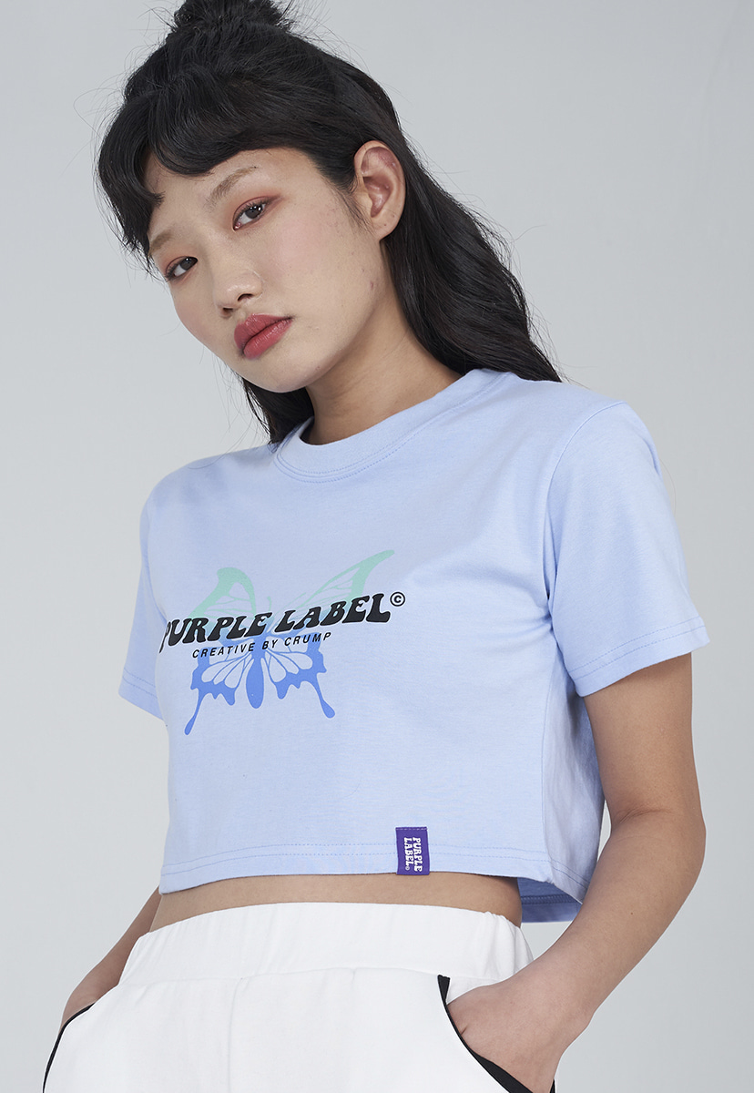 [퍼플라벨] Purple label butterfly crop tee (PT0016-2)