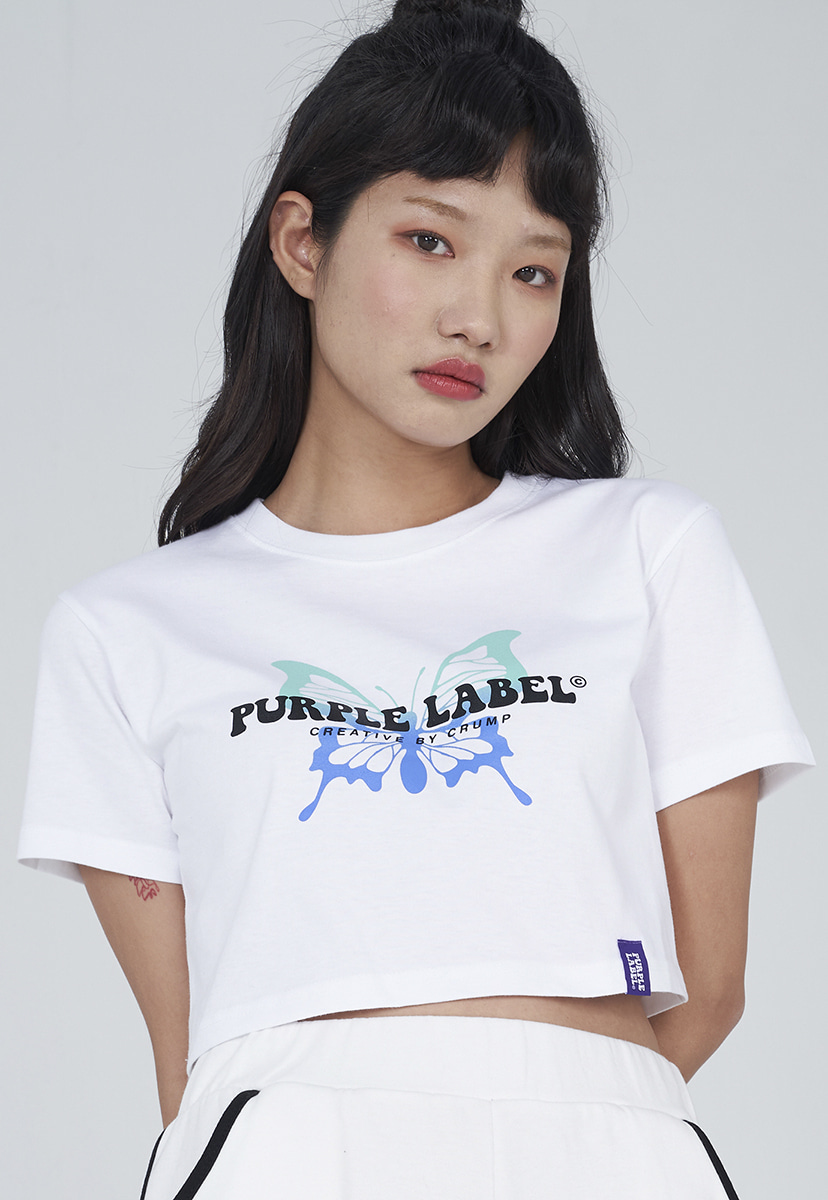 [퍼플라벨] Purple label butterfly crop tee (PT0016-3)