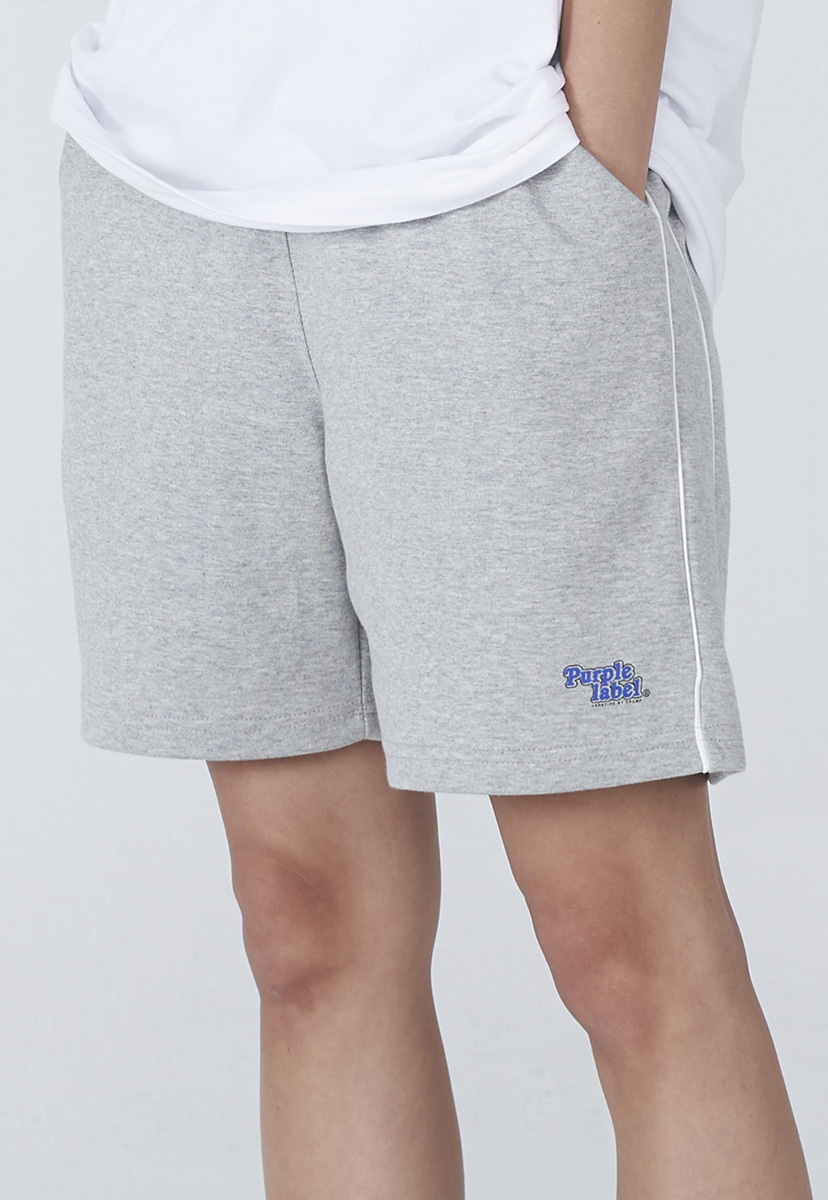 [퍼플라벨] Purple label rounding logo sweat shorts (PP0003-2)