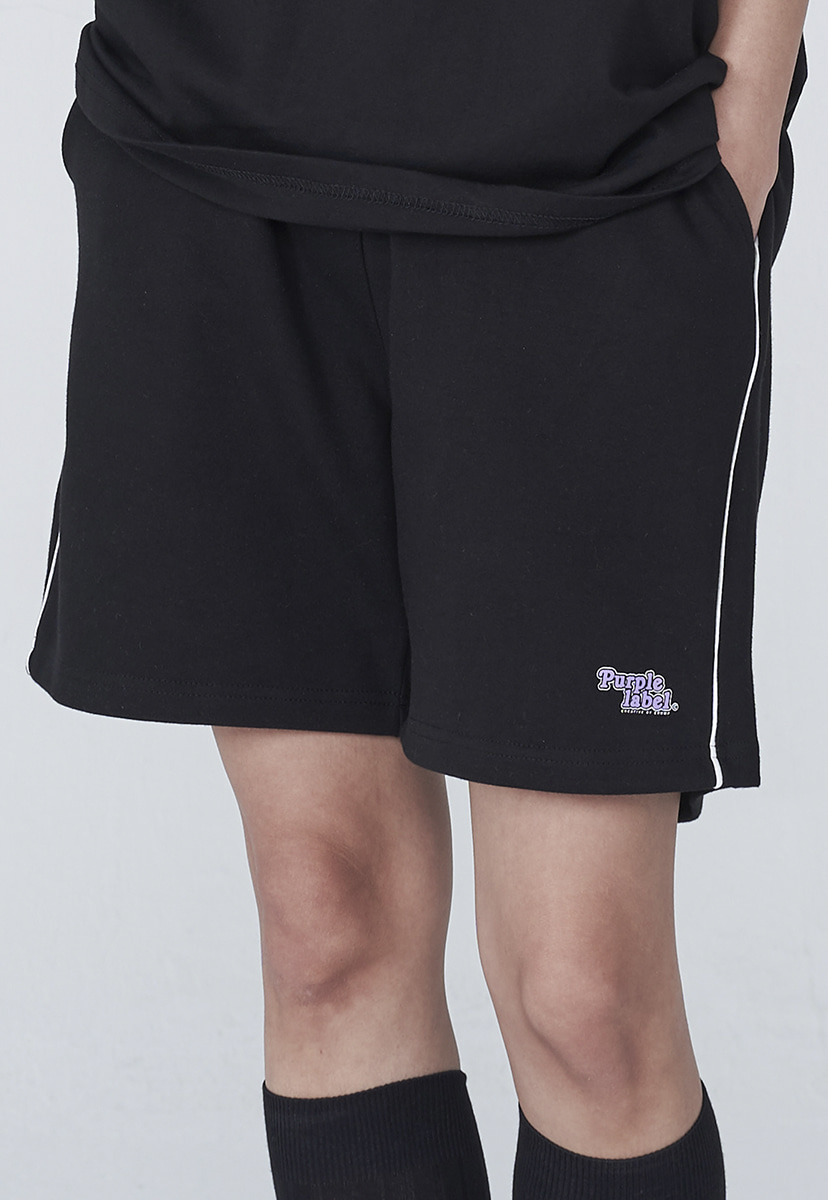 [퍼플라벨] Purple label rounding logo sweat shorts (PP0003)