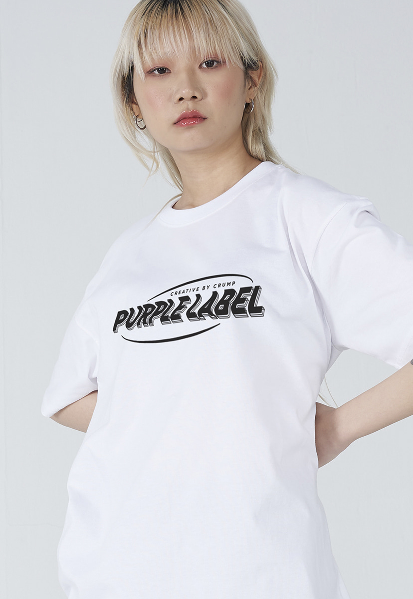 [퍼플라벨] Purple label wave logo tee (PT0004-3)