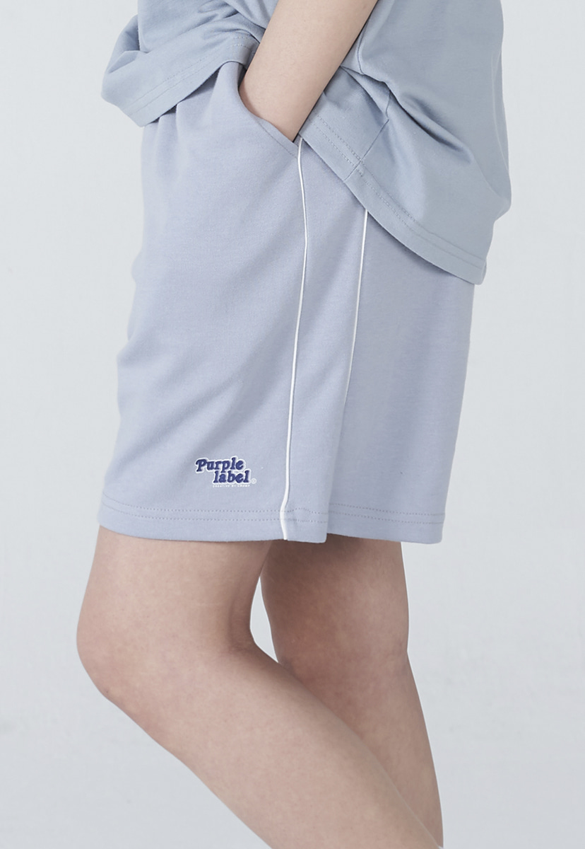 [퍼플라벨] Purple label rounding logo sweat shorts (PP0003-1)