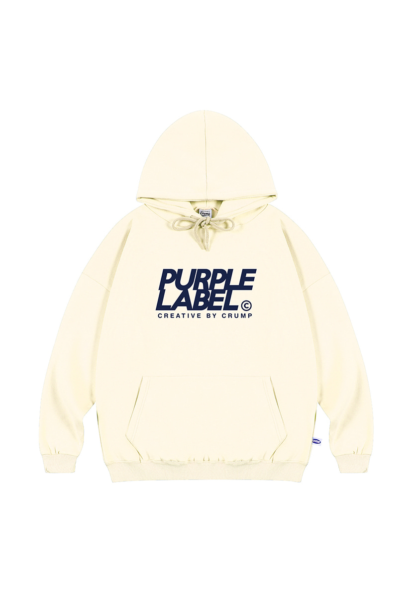 [퍼플라벨] Purple label signature logo hoodie (PT0019-2)