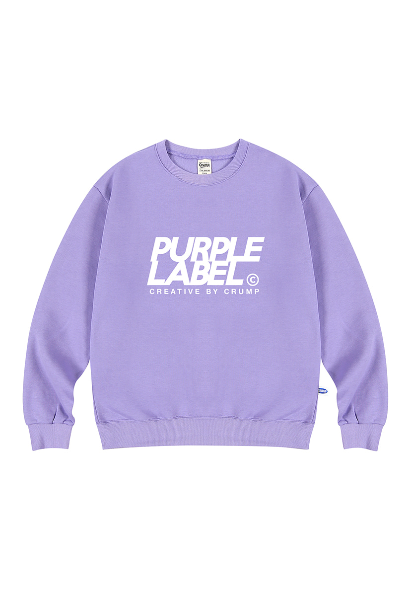 [퍼플라벨] Purple label Signature Logo crewneck (PT0022-1)