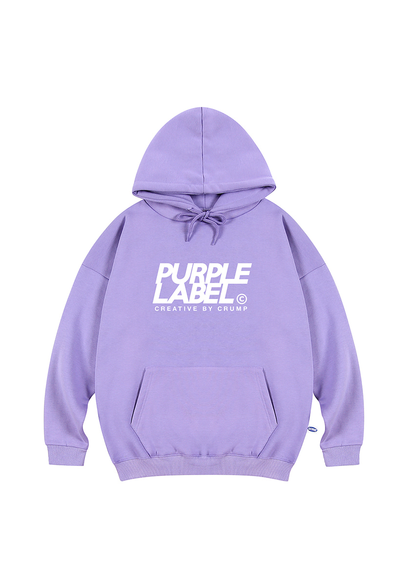 [퍼플라벨] Purple label signature logo hoodie (PT0019-1)