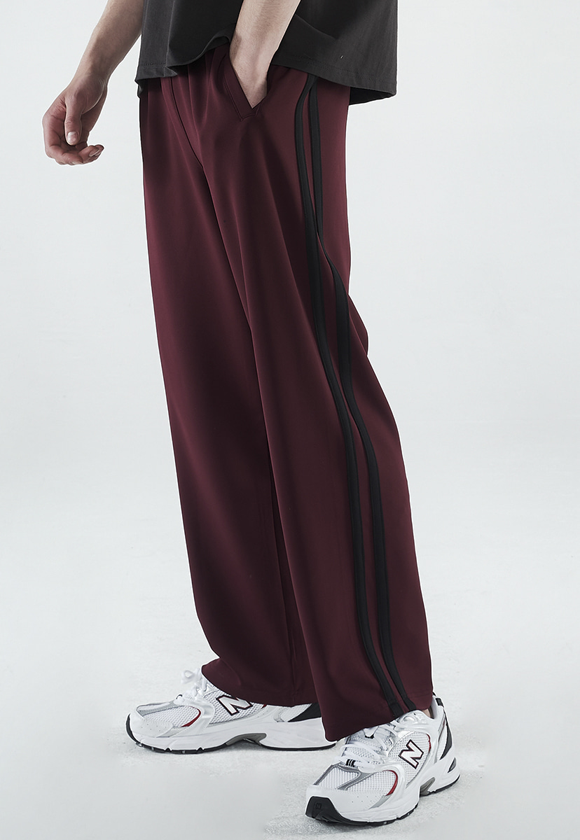 [7월31일 예약배송][크럼프] Crump two line wide track pants (CP0146-1)