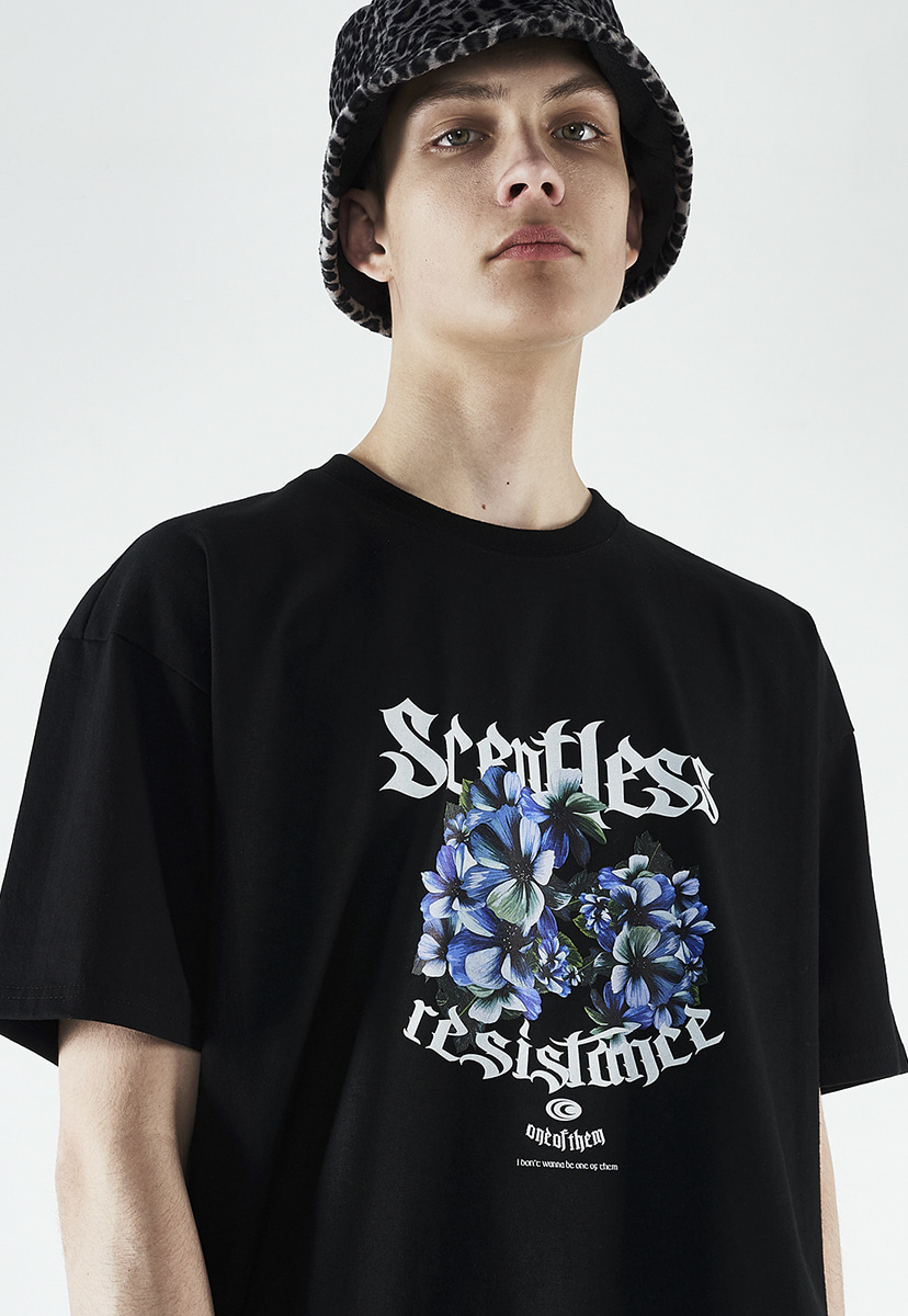 [크럼프] Crump scentless flower t-shirt (CT0267)