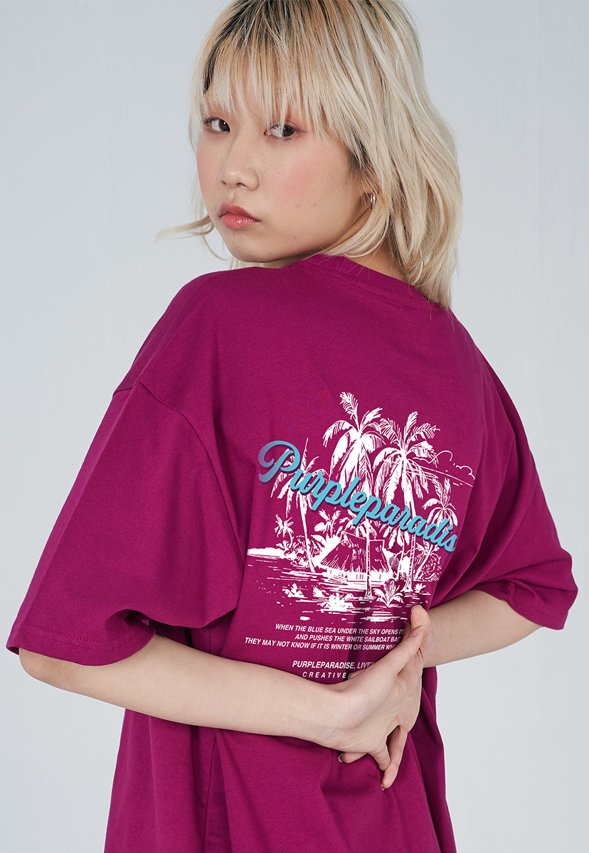 [퍼플라벨] PURPLE LABEL PALM TREE TEE (PT0029-1)