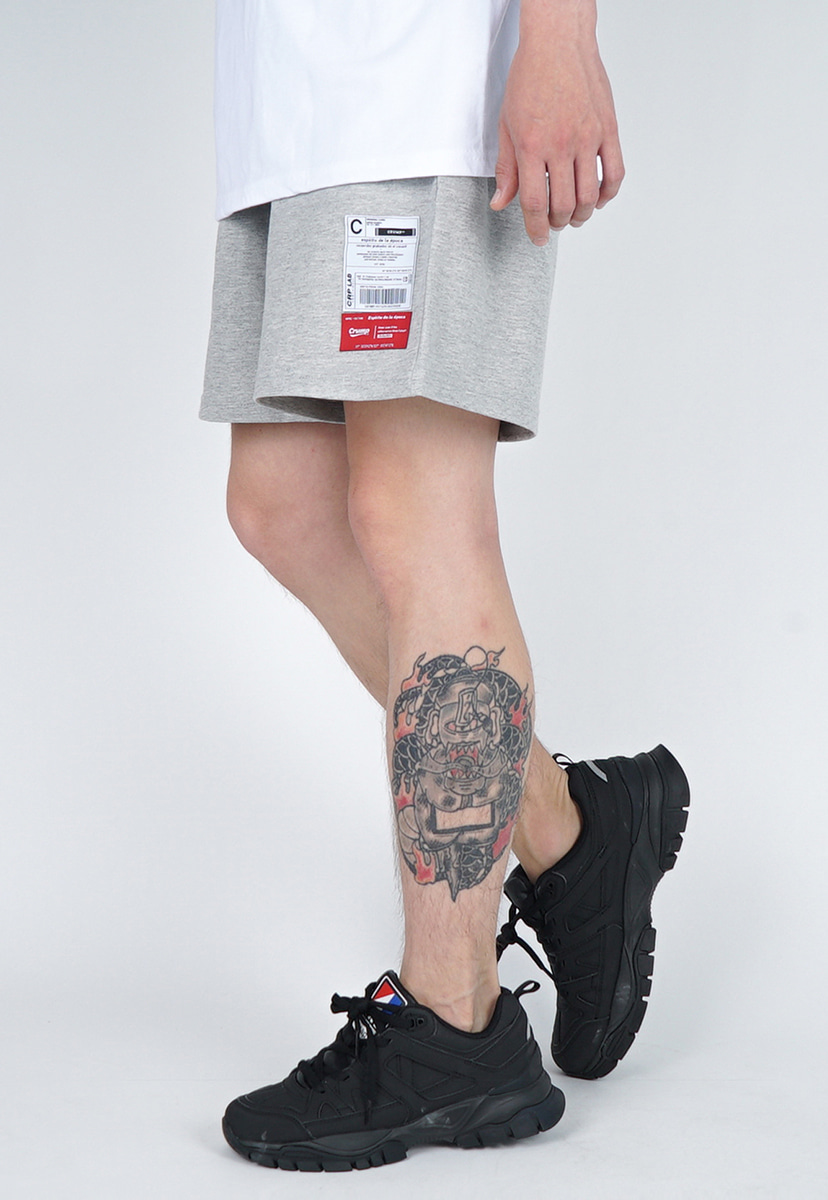 [크럼프] LABEL COTTON HALF PANTS (CP0153-1)