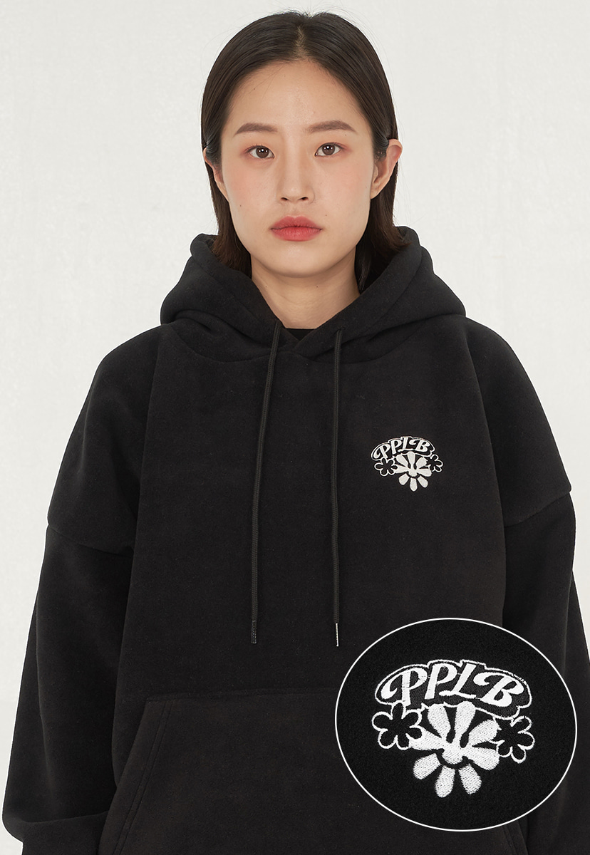 [퍼플라벨] smile flower fleece hoodie (PT0053)