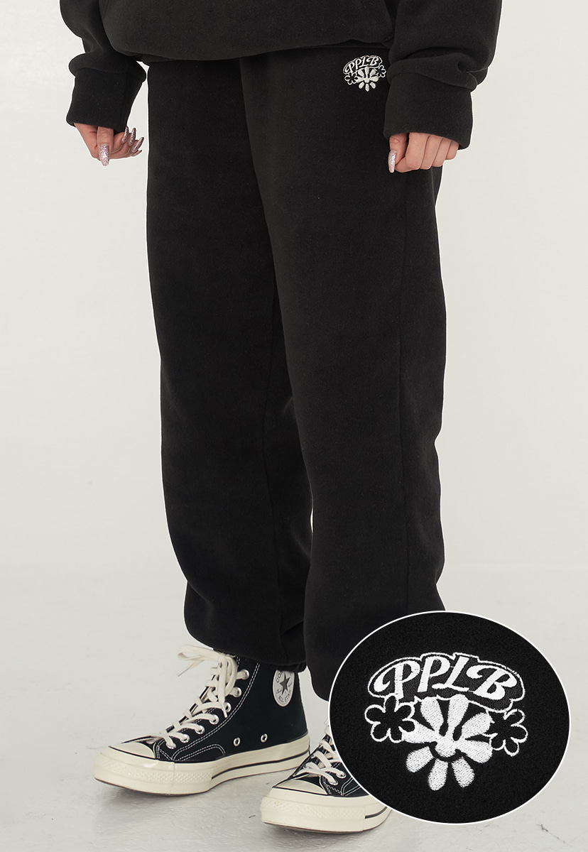 [퍼플라벨] smile flower fleece jogger pants (PP0014)