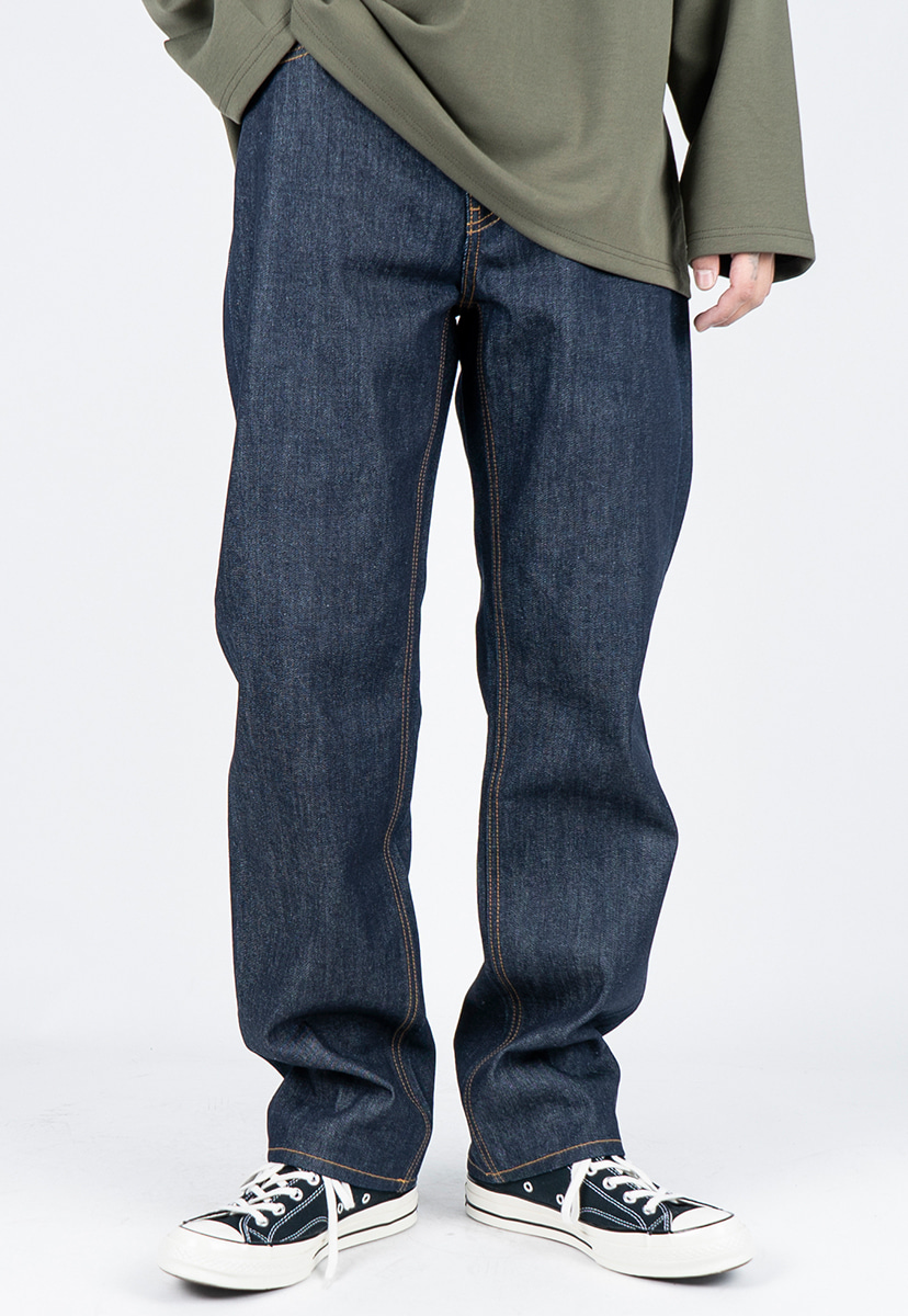 [디스리스펙] semi wide fit washed denim raw (TRP0010)