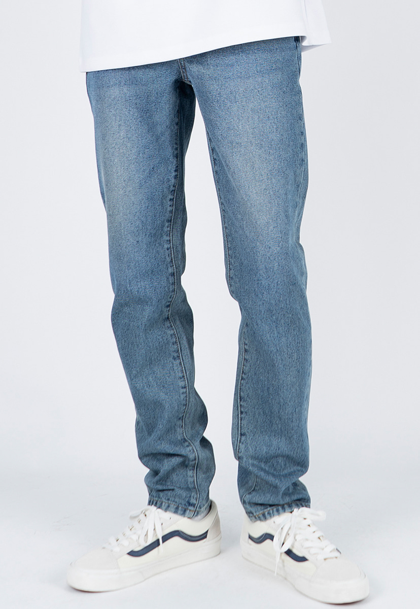 [디스리스펙] slim fit washed denim gray blue (TRP0002)