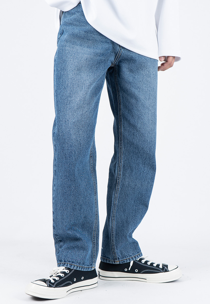 [디스리스펙] standard fit washed denim deep blue (TRP0005)