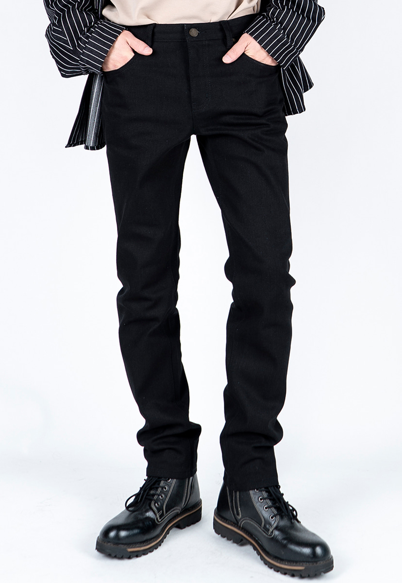 [디스리스펙] slim fit washed denim black (TRP0001)