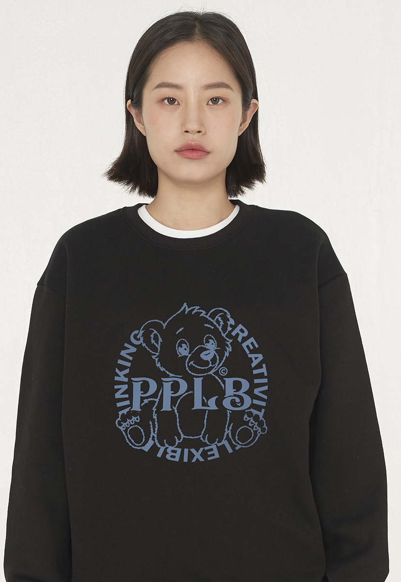 [퍼플라벨][기모] bear friends crewneck (PT0057g)