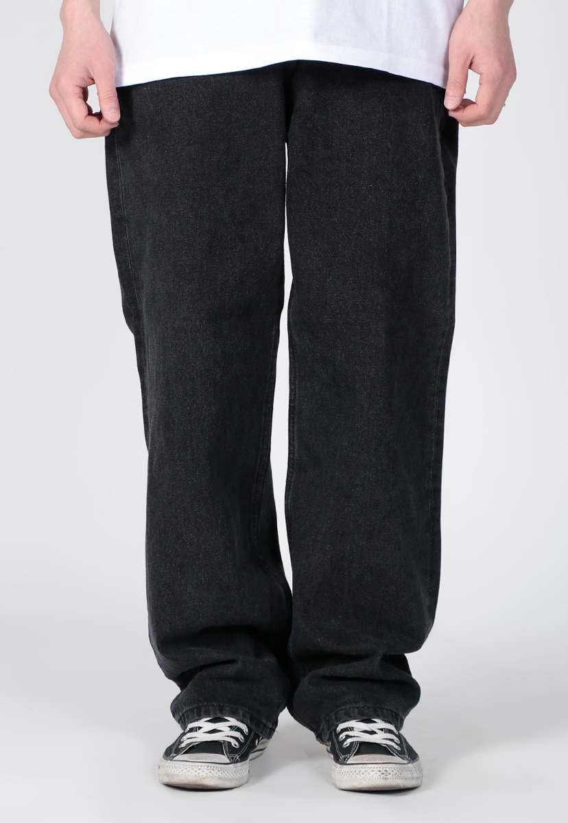 crump wide long black denim (CP0172)