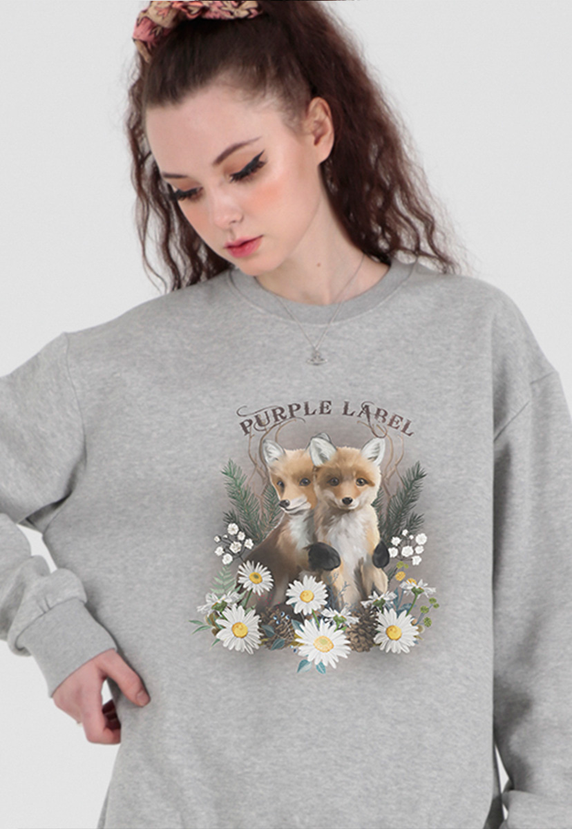 [퍼플라벨] little foxes sweatshirts (PT0067-1)