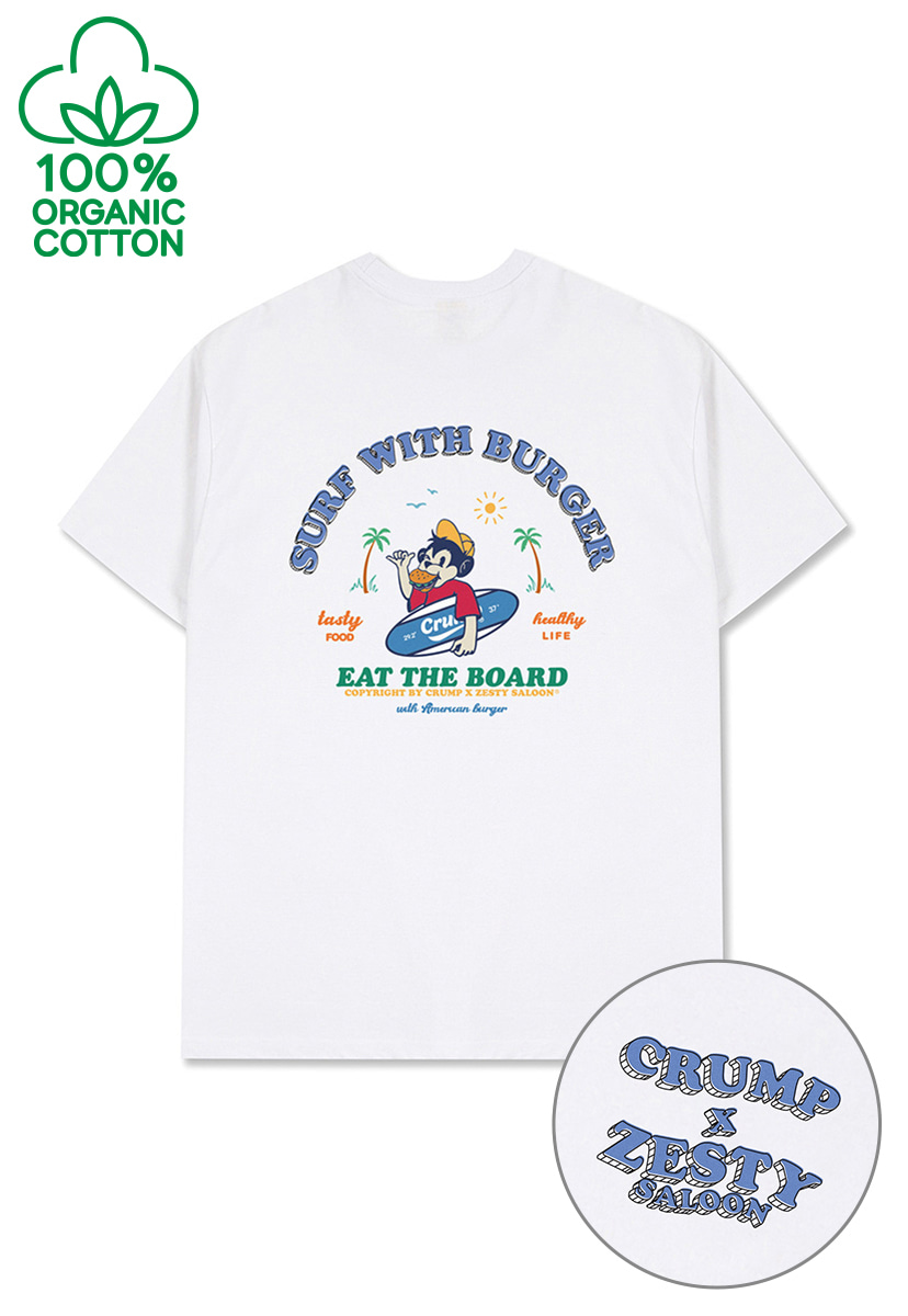 [ZESTY SALOON X CRUMP] SURFING T-SHIRT (CT0309-2)