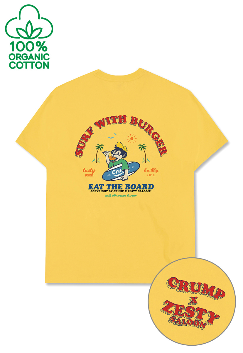 [ZESTY SALOON X CRUMP] SURFING T-SHIRT (CT0309-1)