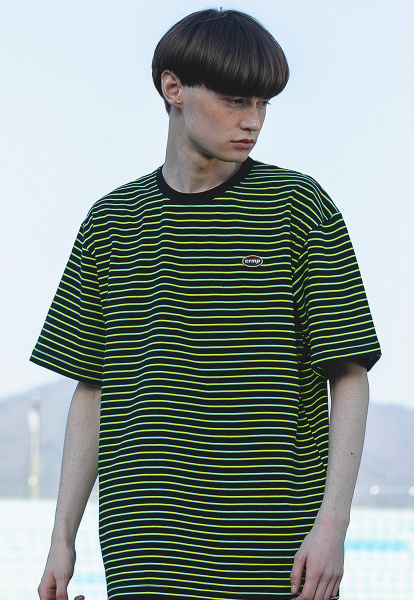 [크럼프] Crump striped wappen t-shirt (CT0199)