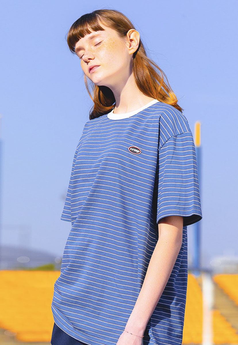 [크럼프] Crump striped wappen t-shirt (CT0199-1)