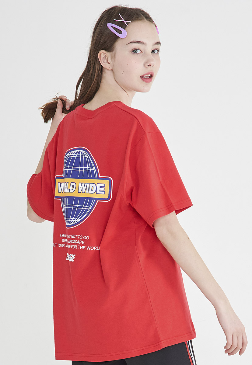 [크럼프] Crump worldwide logo t-shirt (CT0205-2)