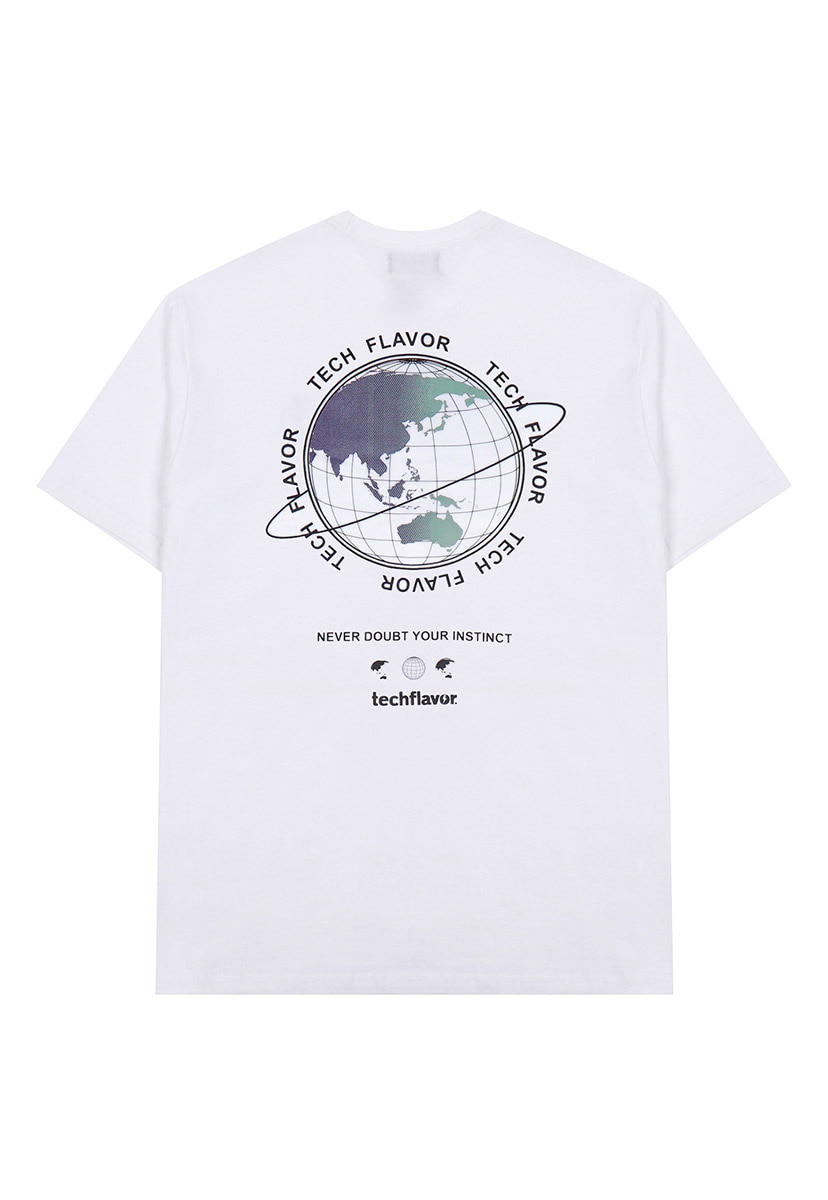 [테크플레이버] Techflavor earth logo t-shirt (TT0021-1)
