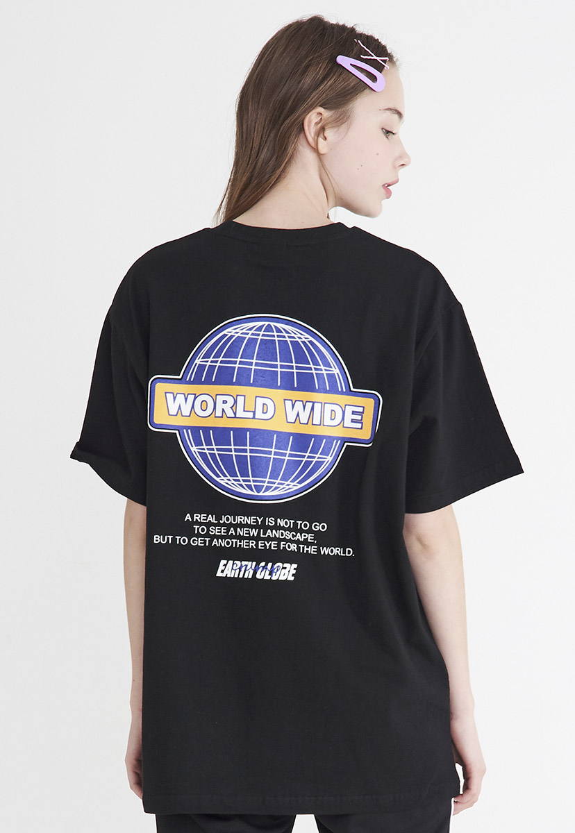 [크럼프] Crump worldwide logo t-shirt (CT0205)