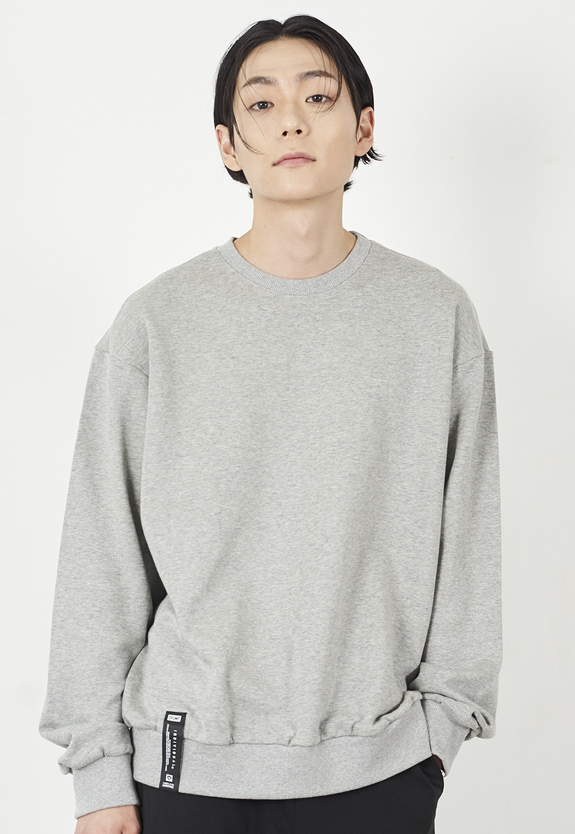 [크럼프] Crump overfit solid crewneck (CT0223-3)