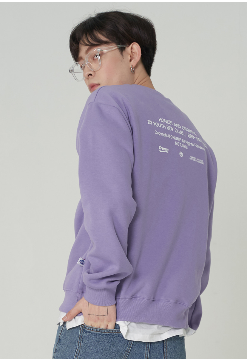 [크럼프][기모] Crump honest original crewneck (CT0248g-1)