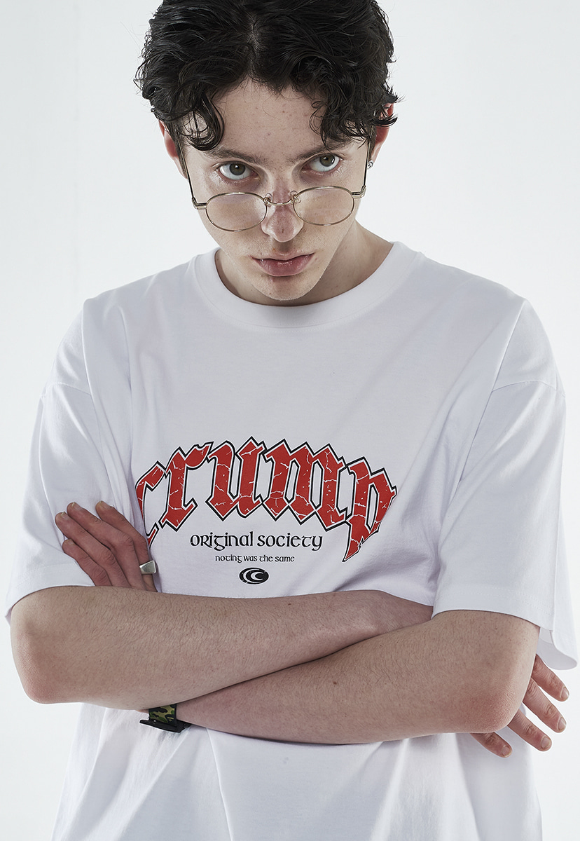 [크럼프] Crump scratch arch logo t-shirt (CT0263-3)