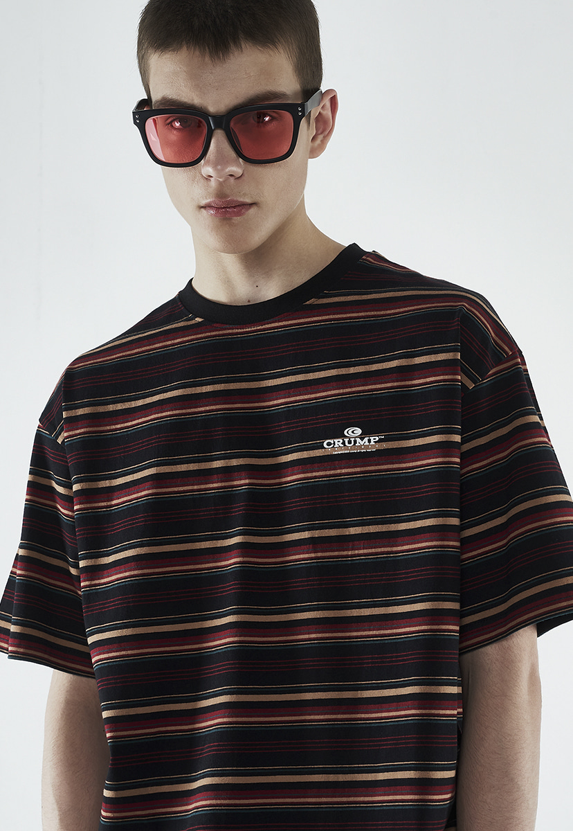 [크럼프] Crump color stripe t-shirt (CT0265-1)