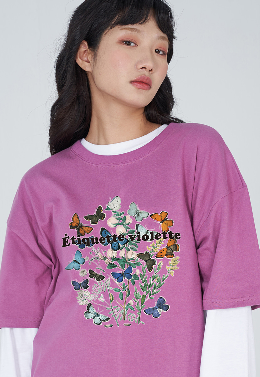 [퍼플라벨] PURPLE LABEL VINTAGE FLOWER TEE (PT0036-1)